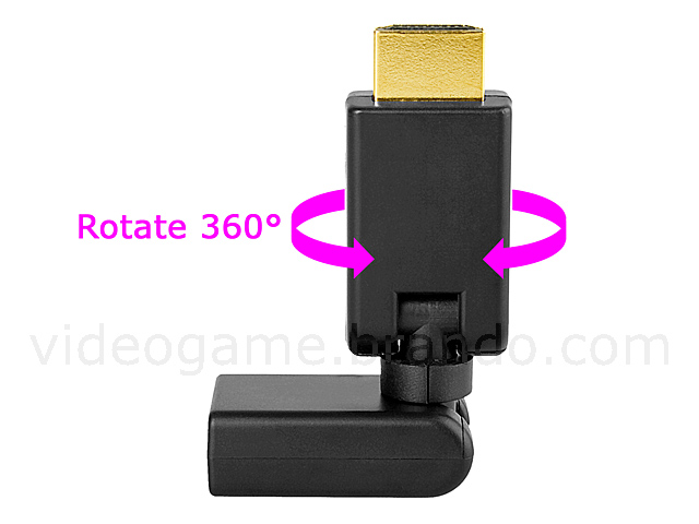 360° x 360° HDMI Male to HDMI Female Adapter