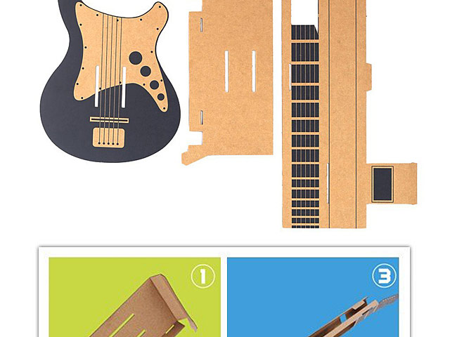 Labo DIY Cardboard Case Guitar Holder Bracket for Nintendo Switch